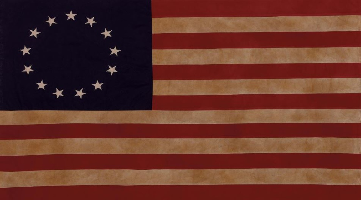 Flags f r a m e m y f l a g betsy ross 13 star flag tea stained 100 cotton 36 x 24 publicscrutiny Choice Image
